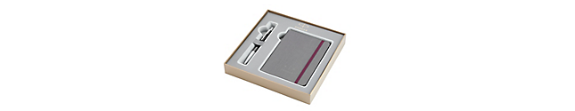 Urban Premium Ebony Metal Chiseled Chrome Trim Ballpoint & Notebook Gift Set - 30% off applied in cart