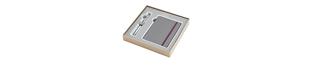 Urban Premium Pearl Metal Chiseled Chrome Trim Ballpoint & Notebook Gift Set - 30% OFF