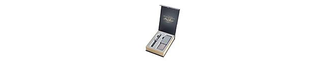 Ingenuity Large Black Rubber Chrome Trim & Premium Pen Pouch Gift Set