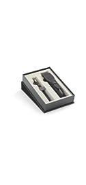 Parker Sonnet Black GT Fountain Pen & Black Leather Pen Pouch Set - 30% off applied in cart