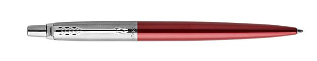 Parker Jotter Gel Kensington Red Retractable with Chrome Colour Trim Medium Nib