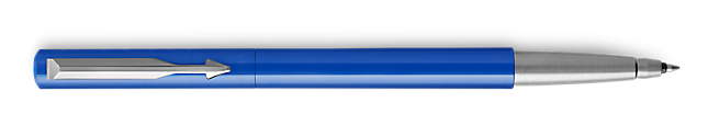 Parker Vector Blue Roller Ball, Chrome Colour Trim, Medium Tip, Blue Ink