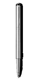 Parker Vector Stainless Steel Roller Ball, Chrome Colour Trim, Medium Tip, Blue Ink