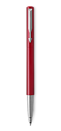 Parker Vector Red Roller Ball, Chrome Colour Trim, Medium Tip, Blue Ink