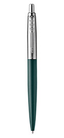 Jotter XL Greenwich Matte Green Ballpoint Pen, Chrome Coloured Trim, Medium Nib, Blue Ink