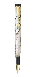 Duofold Pearl & Black Centennial Fountain Pen - Medium 18K gold nib