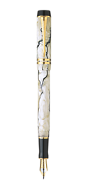 Duofold Pearl & Black International Fountain Pen - Fine 18K gold nib