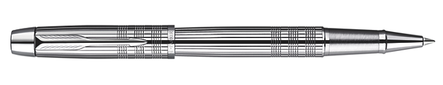 IM Premium Shiny Chrome Metal Chiselled Rollerball