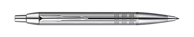 IM Premium Shiny Chrome Metal Chiselled Ballpoint