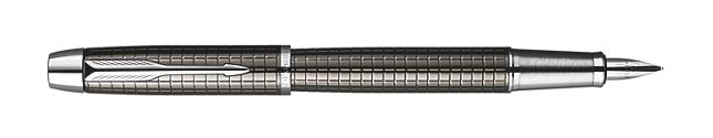IM Premium Deep Gun Metal Chiselled Fountain Pen - Medium stainless steel nib
