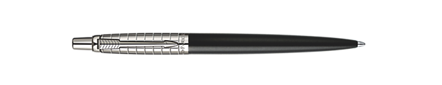 Jotter Premium Satin Black Stainless Steel Chiselled Ballpoint