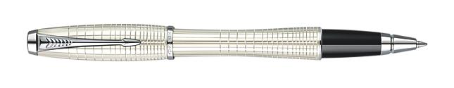 Urban Premium Metallic White Chiselled Rollerball