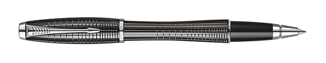 Urban Premium Metallic Black Chiselled Rollerball