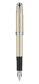Sonnet Cisel&eacute Silver Fountain Pen - Fine 18K gold nib