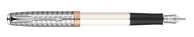 Sonnet Metal & Pearl Fountain Pen - Fine 18K gold nib