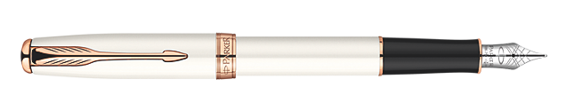 Sonnet Pearl Fountain Pen - Fine 18K gold nib