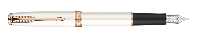 Sonnet Pearl Fountain Pen - Medium 18K gold nib