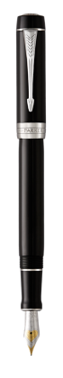 Image for Duofold Classic Black Fountain Pen - Fine nib from Parker UK