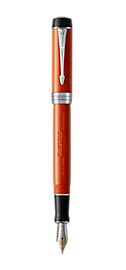Duofold Classic Big Vintage Red Fountain Pen With Chrome Trim Fine Nib