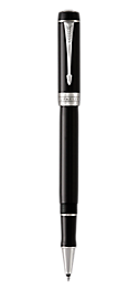Duofold Classic Black Rollerball Pen With Chrome Trim Fine Point