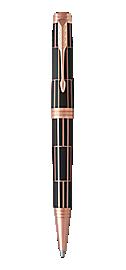 Premier Luxury Brown Retractable Ballpoint Pen With Pink Gold Trim Medium Point