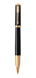 Ingenuity Lacquered Black Parker 5TH<sup>TM</sup> Pen With Gold Trim