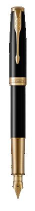Image pour Sonnet Laque Noire Stylo-plume (plume or) - Plume moyenne à partir de Parker FR