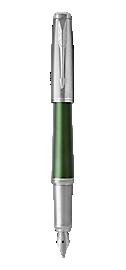 Urban Premium Green Fountain Pen With Chrome Trim Medium Nib