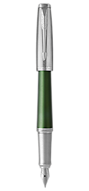 Urban Premium Green Fountain Pen With Chrome Trim Fine Nib