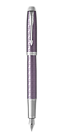IM Premium Dark Violet Fountain Pen With Chrome Trim Medium Nib