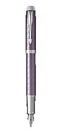 IM Premium Dark Violet Fountain Pen With Chrome Trim Medium Nib