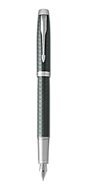 IM Premium Pale Green Fountain Pen With Chrome Trim Medium Nib