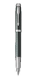 IM Premium Pale Green Fountain Pen With Chrome Trim Medium Nib
