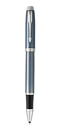 IM Light Blue & Grey Rollerball Pen With Chrome Trim Fine Point