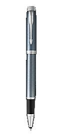 IM Light Blue & Grey Rollerball Pen With Chrome Trim Fine Point