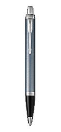 1931648 Parker IM Light Blue Grey Chrome Trim CT Fine Nib Fountain Pen New