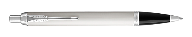 IM White Retractable Ballpoint Pen With Chrome Trim Medium Point