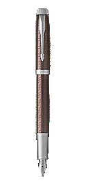 IM Premium Brown Fountain Pen With Chrome Trim Fine Nib