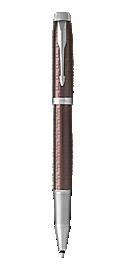 IM Premium Brown Rollerball Pen With Chrome Trim Fine Point