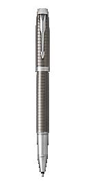 IM Premium Chiselled Dark Espresso Rollerball Pen With Chrome Trim Fine Point