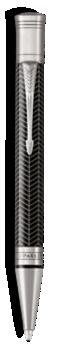 Duofold Prestige Chevron Noir Stylo-bille - Pointe moyenne