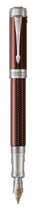 Image pour Duofold Prestige Chevron Bordeaux Stylo-plume - Plume moyenne à partir de Parker FR