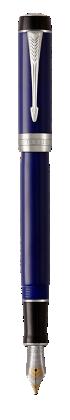 Image for Duofold Classic Blue & Black Fountain Pen - Medium nib from Parker UK