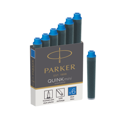 Quink Mini Cartridge - Blue ink