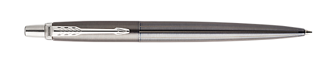 Jotter Premium Oxford Grey Retractable Ballpoint Pen With Pinstripe Pattern & Chrome Trim Medium Point