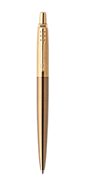 Jotter Premium West End Brushed Gold Retractable Ballpoint Pen With Gold Trim Medium Point
