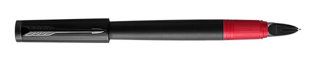 Ingenuity Deluxe Black & Red PVD Parker 5THTM Pen With PVD Trim