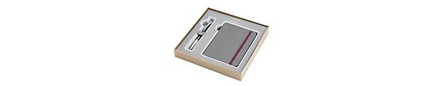 Urban Premium Ebony Metal Chiseled Chrome Trim Ballpoint & Notebook Gift Set - 30% off applied in cart
