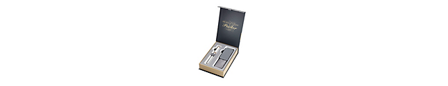 Ingenuity Slim Pearl Pink Gold Trim & Premium Pen Pouch Gift Set - 30% off applied in cart