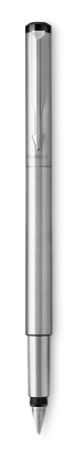 Image for Parker Vector Stainless Steel Fountain Pen, Chrome Colour Trim, Fine Nib, Blue Ink from Parker UK